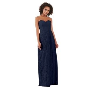 Lace Astrid Navy Strapless Bridesmaid Prom Dress